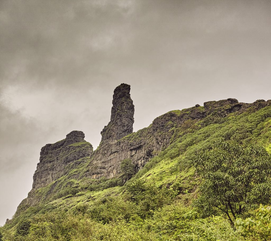 Irshalgad pinnacle is not a climb for a wet day